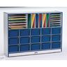 Rainbow Accents® Sectional Mobile Cubbie Without Trays - Navy