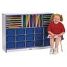 Rainbow Accents® Sectional Mobile Cubbie Without Trays - Black