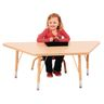 "24"" x 48"" Berries® Maple Prism Activity Table - Trapezoid, 24"" - 31"" Leg Height"