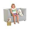 "Modern Casual Enviro-Child Upholstered Corner Seat 14""H Seat Height - Gray"