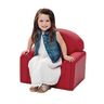 """Toddler Enviro-Child Upholstery Chair 8""""H Seat Height - Primary Red"""