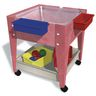 "Mobile Mite Table w/ Clear Liner - 24""H - Red"