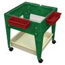 """Mobile Mite Table w/ Clear Liner - 24""""H - Green"""