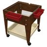 "Mobile Mite Table w/ Clear Liner - 24""H - Chocolate"
