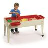 """24"""" Sand and Water Activity Center with Solid Red Liner with 2 Casters - Sandstone"""