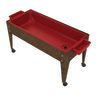 Sand and Water Activity Center - Solid Red Liner with 4 Casters - Chocolate