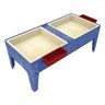 """Double Well S&W Table w/ Liner - 18""""H - Blue"""