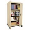 "Mobile Metal Storage Cabinet - 66""H with Double Doors -  Putty"