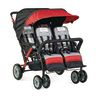 Foundations® Quad Sport™ 4-Passenger Stroller - Red