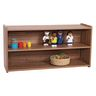 "2-Shelf Storage Unit, 24""H - Natural Walnut, Assembled"