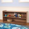 """2-Shelf Storage Unit, 24""""H - Natural Walnut, Assembly Required"""