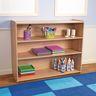 "Straight 3-Shelf Storage Unit, 38""H Natural Alder, Assembled"