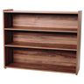 "Straight 3-Shelf Storage Unit, 38""H,  Natural Walnut, Assembled"
