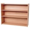 "Straight 3-Shelf Storage Unit, 38""H - Natural Alder, Assembly Required"