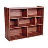 "Divided 3-Shelf Storage Unit, 38""H - Natural Walnut, Assembled"
