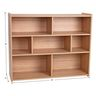 "Divided 3-Shelf Storage Unit, 38""H - Natural Alder, Assembly Required"