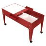 Double-Well Sand and Water Activity Table with Clear Liner - Red