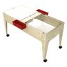Double-Well Sand and Water Activity Table with Clear Liner - Sandstone