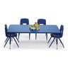 "30"" x 60"" Blue Table with Matching Legs - 22""-30""H"