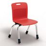 "Analogy Chairs 12""H Set of 5 - Red"