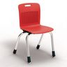 "Analogy Chairs 14""H Set of 5 - Red"