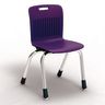 "Analogy Chairs 14""H Set of 5 - Purple"
