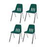 """10"""" Virco 9000 Chair w/Chrome Legs 4-PK - Green"""