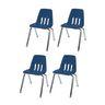 "12"" Virco 9000 Chair w/Chrome Legs 4-PK - Navy"