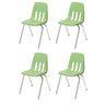 "14"" Virco 9000 Chair w/Chrome Legs S/4- Light Green"