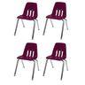"""14"""" Virco 9000 Chair w/Chrome Legs S/4 - DK Red"""