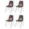 """14"""" Virco 9000 Chair w/Chrome Legs S/4 - Chocolate"""