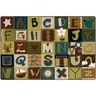 Alphabet Blocks Nature 8' x 12' Rectangle KIDSoft Premium Carpet