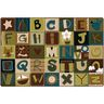 Alphabet Blocks Nature 4' x 6' Rectangle KIDSoft Premium Carpet