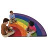 Rainbow Rows Rug - 6' Radius Corner
