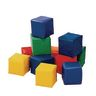 12 Primary-Colored Toddler Baby Blocks