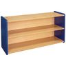 "2-Shelf Storage Unit, 24""H - Maple/Royal Blue, Assembled"