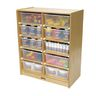10 Tub Mobile Storage - With Clear Tubs
