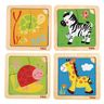 Friendly Critter Puzzles Set of 4