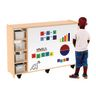 Mobile Storage Cabinet with Magnetic Marker Board Ready to Assemble