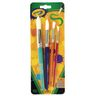 Set of 4 Assorted Paint Brushes Round Tips