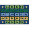 Alphabet Stars Premium Carpet - 8' x 12' Rectangle