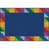 Rainbow Prism Border Premium Carpet - 6' x 9' Rectangle