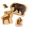 Wooden Forest Animal Blocks Set of 30