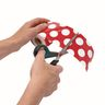 """Rolled Straight Border - Red with Polka Dots 3"""" x 36'"""