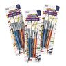 Colorations® Flat Paint Brushes, Set of 12, 4 Sizes