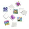 Colorations Mini Tile Magnets Art Kit - Set of 10