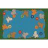 Counting Elephants Premium Carpet - 8' x 12' Rectangle