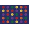 Seating Dots Premium Carpet, Primary - 8' x 12' Rectangle