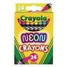 Crayola Neon Crayons, Set of 24 Colors