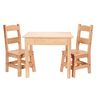Wood Table and Chairs 3-Piece Set